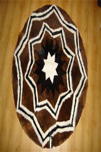 Carpete Redonda Zig-zag